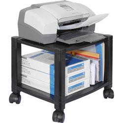 Kantek Mobile Printer Stand, Two-Shelf, 17w x 13.25d x 14.13h, Black