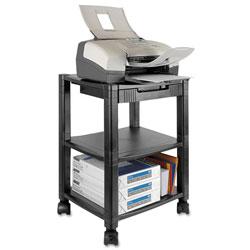Kantek Mobile Printer Stand, Three-Shelf, 17w x 13.25d x 24.5h, Black