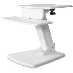 Kantek Sit-To-Stand Computer Workstation, 26-3/4 in x 23-1/2 in x 22 in, White