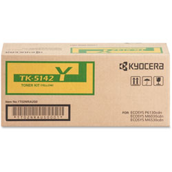 Kyocera Toner Cartridge f/6130/6030, 5000 Page Yield, Yellow