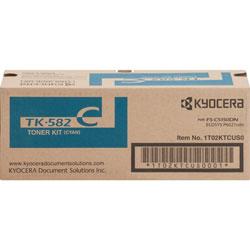 Kyocera Toner Cartridge f/5150/6021, 8000 Page Yield, Cyan