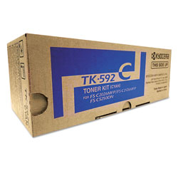 Mita TK592C Toner, 5000 Page-Yield, Cyan