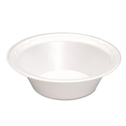 Genpak Foam Bowl, 12 OZ, White
