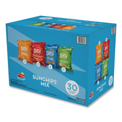 SunChips Variety Mix, Assorted Flavors, 1.5 oz Bags, 30 Bags/Box