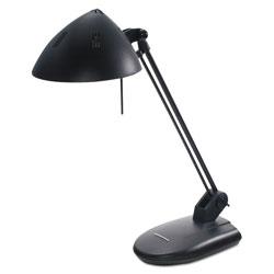 Ledu High-Output Three-Level Halogen Desk Lamp, 6.75 inw x 9 ind x 20.25 inh, Matte Black