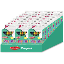 Charles Leonard Crayons, 24 Count, 12/BX,Assorted