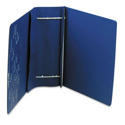 Charles Leonard VariCap Expandable Binder, 2 Posts, 6 in Capacity, 11 x 8.5, Blue