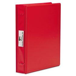 Charles Leonard VariCap Expandable Binder, 2 Posts, 6 in Capacity, 11 x 8.5, Red