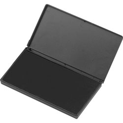 "Charles Leonard Foam Ink Pad, 2 3/4"" x 4 1/4"", Non Toxic, Reinkable, Black"