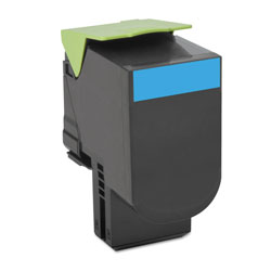 Lexmark 70C1HC0 Return Program High-Yield Toner, 3000 Page-Yield, Cyan