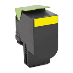 Lexmark 70C1HY0 Return Program High-Yield Toner, 3000 Page-Yield, Yellow