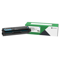 Lexmark C3210C0, Return Program Toner Cartridge, 1500 Page-Yield, Cyan