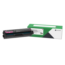 Lexmark C3210M0, Return Program Toner Cartridge, 1500 Page-Yield, Magenta