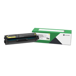 Lexmark C3210Y0, Return Program Toner Cartridge, 1500 Page-Yield, Yellow