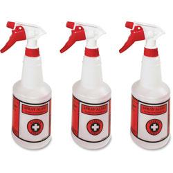 Impact Alert System Spray Bottles, 24oz, 11 inx3.5 in, 3/PK, Natural