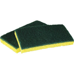 Impact Scubber Cellulose Sponge, 6.25 inx3.2 in, 8PK/CT, Yellow/Green
