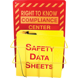 Impact Deluxe Reversible Right-To-Know\Understand SDS Center, 14.5w x 5.2d x 21h, Red/Yellow