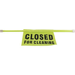Impact Saftey Pole, Closed-For-Cleaning, 30-44, Fl/Green