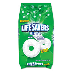 Lifesavers® Hard Candy Mints, Wint-O-Green, 50 oz Bag