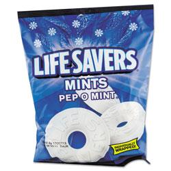 Lifesavers® Hard Candy Mints, Pep-O-Mint, Individually Wrapped, 6.25 oz Bag
