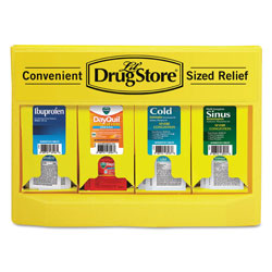 Lil Drugstore Cold and Flu Single Dose Dispenser, 170-Pieces, Plastic Case, Yellow/Black