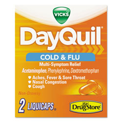 Dayquil® Severe Cold & Flu Caplets, Daytime, Refill Pack, 2 Caplets/Packet, 20 Packs/Box
