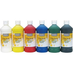 Little Masters Tempera Paint, 6 Assorted Colors, 16 oz