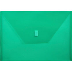 "Lion Poly Envelope, Hook and Loop Closure, 13"" x 9 3/8"" , ./Green"