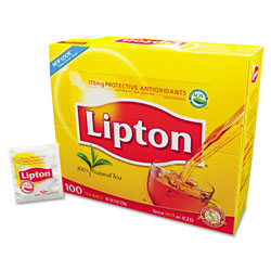 Lipton® Tea Bags, Regular, 100/Box