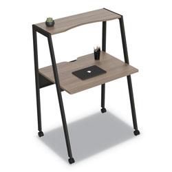 Linea Italia Kompass Flexible Home/Office Desk, 33w x 23.75d x 48h, Natural Walnut