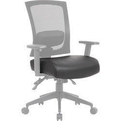 Lorell Task Chair Antimicrobial Seat Cover, 19 in Length x 19 in Width, Polyester, Black, 1 Each