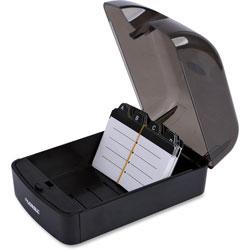 Lorell Rotary File Card, 350 Capacity, Black