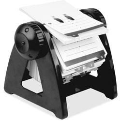 Lorell Rotary Card File, 250 Capacity, Black
