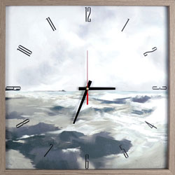 Lorell Seawave Art Clock, Analog, Quartz, Brown