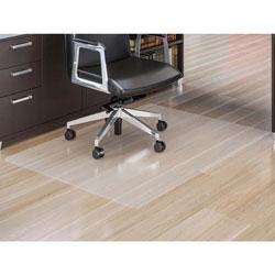 Lorell Rectangular Chairmat, All Floors/Carpets, 60 inx60 in, Clear