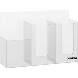 Lorell Acrylic Sanitation Station, 9.9 in Height x 14.8 in Width x 4.5 in Depth, Wall Mountable, Freestanding, Countertop, Tabletop, Acrylic, Clear
