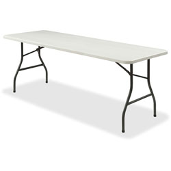 Lorell Folding Table, 1000 lb. Capacity, 96 in x 30 in x 29-1/4 in, Platinum