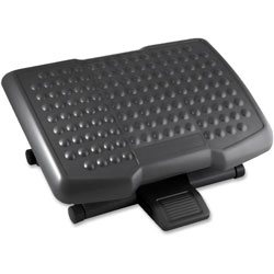 Lorell Footrest, Adjustable Height, Ergonomic, Black