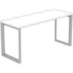 Lorell Side Leg, Desk-height for 23-5/8 inD Desktop, 23-1/4 in x 28-1/2 in, Silver