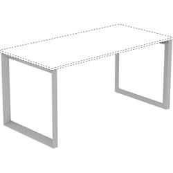 Lorell Side Leg, Desk-height for 29-1/2 inD Desktop, 29-1/8 in x 28-1/2 in, Silver