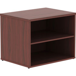 Lorell Storage Cabinet Credenza with No Door, 29-1/2 in x 22 in x 23-1/8 in, Mahogany