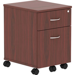 Lorell Pedestal, Mobile, B/F, 15-3/4 in x 19-7/8 in x 22-7/8 in, Mahogany