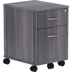 Lorell Pedestal, Mobile, B/F, 15-3/4 in x 19-7/8 in x 22-7/8 in, Charcoal
