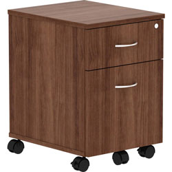 Lorell Pedestal, Mobile, B/F, 15-3/4 inx19-7/8 inx22-7/8 in, Walnut