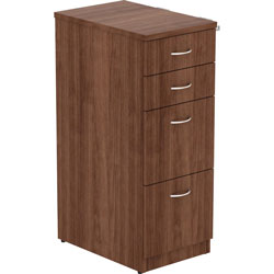 Lorell File Cabinet, 4 Drawers, 15-1/2 inx23-5/8 inx40-3/8 in, Walnut