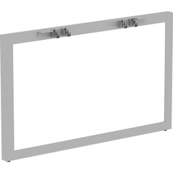 Lorell Relevance Series Wide Side Leg, 45.5 in x 4 in x 28.5 in, Material: Metal Frame, Finish: Silver, Powder Coated