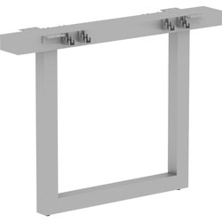 Lorell Relevance Series Middle Unite Leg, 38.6 in x 6.3 in x 28.5 in, Material: Metal Frame, Finish: Silver, Powder Coated