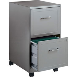 Lorell Steel Mobile File Cabinet, 2-DR, 14-1/4 inx18 inx24-1/2 in, MC/CCL
