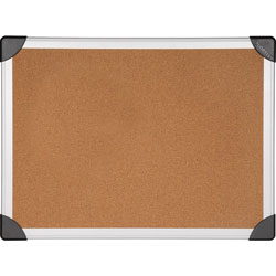 Lorell Cork Board, 3' x 2', Aluminum, Silver/Brown