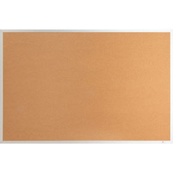 Lorell Cork Board, 1/2 in Thick, 3'x2', Aluminum Frame